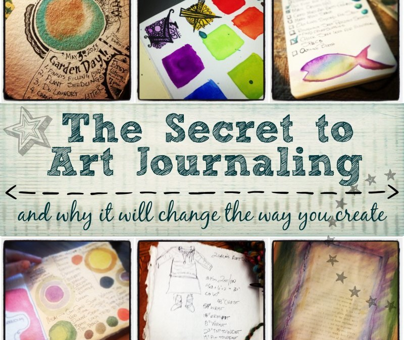 The secret to art journaling and why it will change the way you create