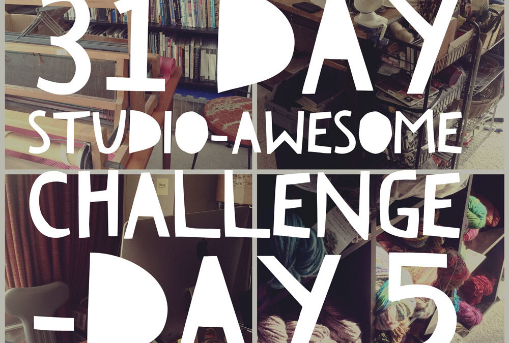Studio Awesome Day 5: Wrangling the Knitting and Crochet Tools