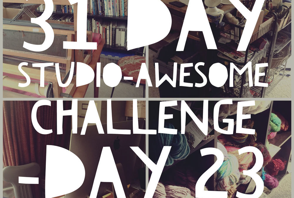 Studio Awesome Challenge Day 23: When bad things happen to good yarn