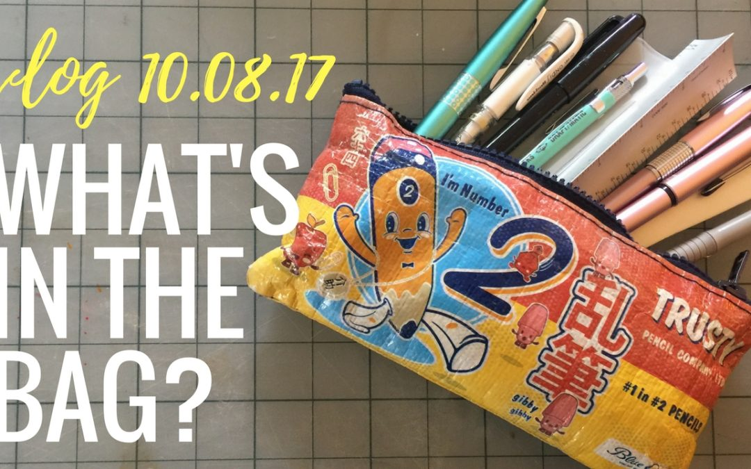 Vlog 10.08.2017: A peek inside my art tools bag